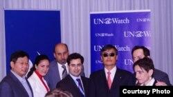 陈光诚和杨建利11月4日出席联合国观察记者会
