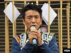 西藏台湾人权连线理事长扎西慈仁 (美国之音张永泰拍摄)