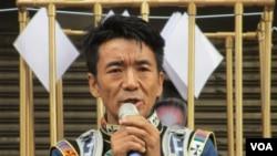西藏台灣人權連線理事長扎西慈仁 (美國之音張永泰拍攝)
