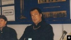 Стивен Сигал на МКФ. Фото Олега Сулькина. 2003 г