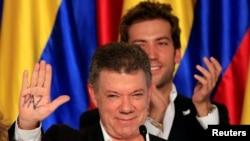 Rais Juan Manuel Santos wa Colombia ndiye mshindi waTtuzo ya Amani ya mwaka wa 2016 la Nobel.