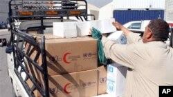 Раздача гуманитарной помощи в Дамаске (архивное фото)