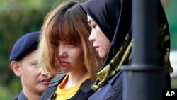 Doan Ti Huong iz Vijetnama tokom istrage za ubistvo Kim Džong-nama, Malezija