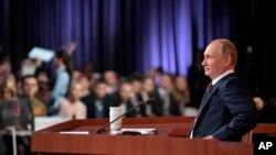 Vladimir Poutine, candidat à un quatrième mandat