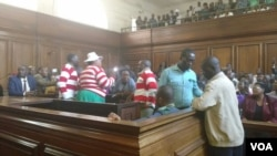 MDC-T activists appearing in court. (Photo: Thomas Chiripasi)