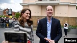 Britain's Prince William and Catherine Duchess of Cambridge.
