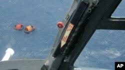 直升機正在進行搜救行動。