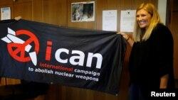 ႏိုဘဲလ္ၿငိမ္းခ်မ္းေရးဆုရရွိတဲ့ ႏ်ဴကလီးယားလက္နက္ ဖ်က္သိမ္းေရး ႏုိင္ငံတကာ လႈပ္ရွားမႈအဖဲြ႔ (ICAN) ( ေအာက္တိုဘာ ၆-၂၀၁၇)