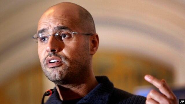 Seif al-Islam fue condenado por asesinato e incitación al genocidio en 2011.