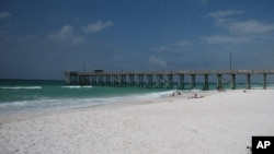 The beach at St. Andrews State Park in Panama City, Florida