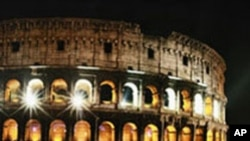 Coliseum is lighted to mark opening of World Summit on Food Security in Rome