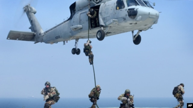 Navy SEALs are maritime special operations forces who strike from the sea, air and land, (File)
