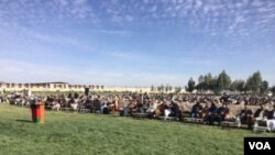 هزاران تن امروز جهت اشتراک نشست شورای تفاهم، به پارک عینو مینه آمده بودند.