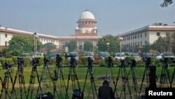 印度新德里的最高法院。(資料圖片)