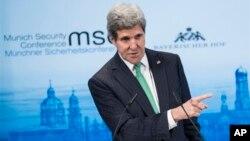 El secretario de Estado, John Kerry, habla en la Conferencia de Seguridad en Munich.