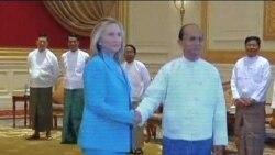 缅甸总统欢迎克林顿