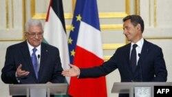 Махмуд Аббас и Николя Саркози