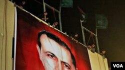 Poster mendiang komandan Hamas, Mahmoud al-Mabhouh di Beit Lahiya, Jalur Gaza.