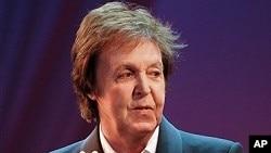 Paul McCartney during 26 Oct concert performance