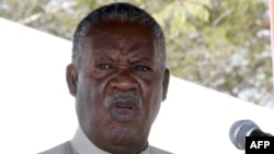 FILE - Zambia President Michael Sata delivers a speech on May 17, 2013.