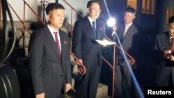 Ким Мен Гиль, глава делегации Северной Кореи на переговорах по ядерному разоружению, Стокгольм, Швеция, 5 октября 2019 года