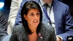 Embajadora estadounidense ante la ONU, Nikki Haley considera necesario disponer de armas atómicas para su defensa y la de sus socios.