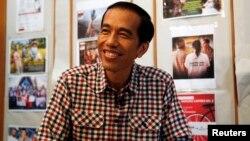 Presiden terpilih Joko Widodo dalam sebuah wawancara dengan Reuters, Juli 2014.
