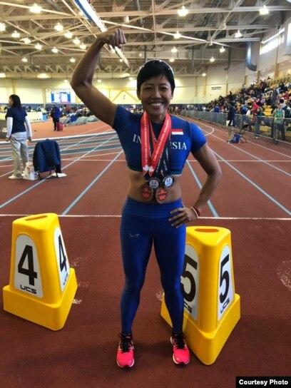 Dedeh Erawati raih empat medali emas di kejuaraan dunia Kanada dan Amerika Serikat (Dok: Satrio Guardian)