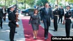 Predsednici Skupština Srbije i Crne Gore, Maja Gojković i Ranko Krivokapić, tokom susreta u Podgorici (skupština.me)
