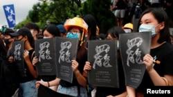 香港学生在香港中文大学举行反送中罢课行动。(2019年9月2日)