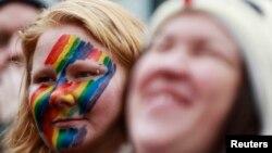 지난 8월 호주 시드니 시내에서 동성결혼을 지지하는 시위가 벌어졌다. (자료사진)