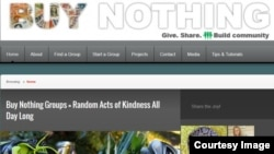 "A screenshot of ""Buy Nothing"" project."