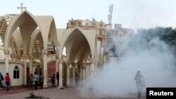 位於開羅的一座科普特教堂受到破壞
