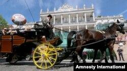 伊朗核问题谈判在奥地利维也纳市中心一家豪华酒店闭门举行。(2015年4月22日)