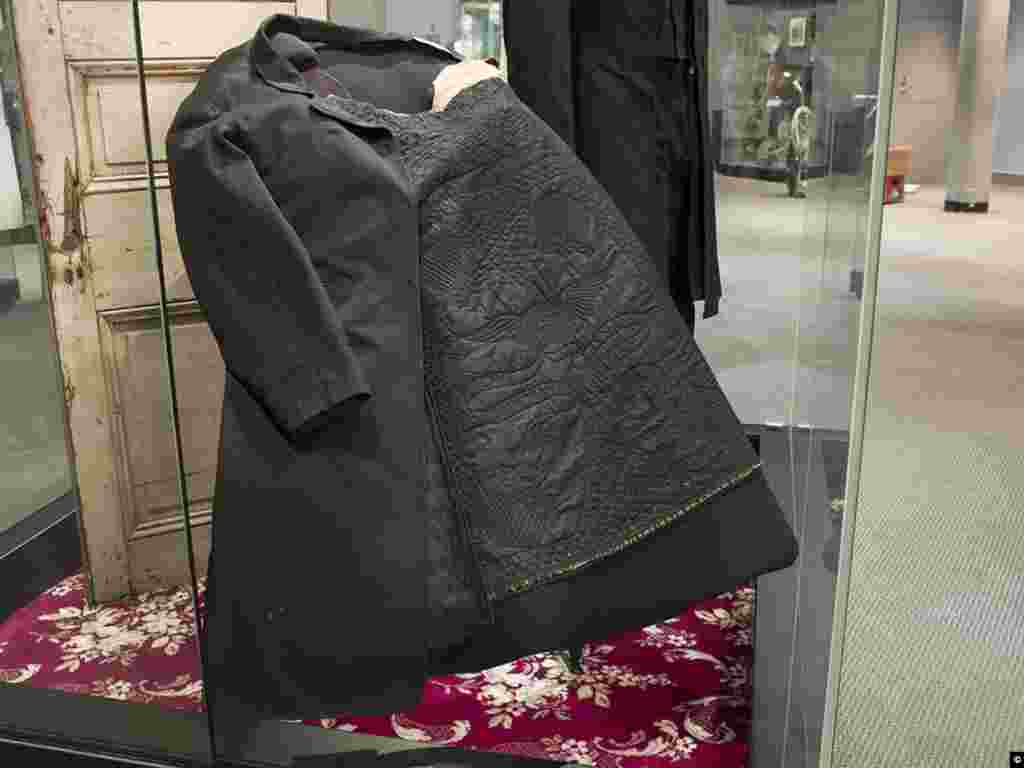 The bloodstained coat President Abraham Lincoln was wearing when he was assassinated at Ford's Theater in Washington D.C. (Carol M. Highsmith, Library of Congress Collection)