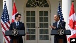 Джастін Трюдо і Барак Обама
