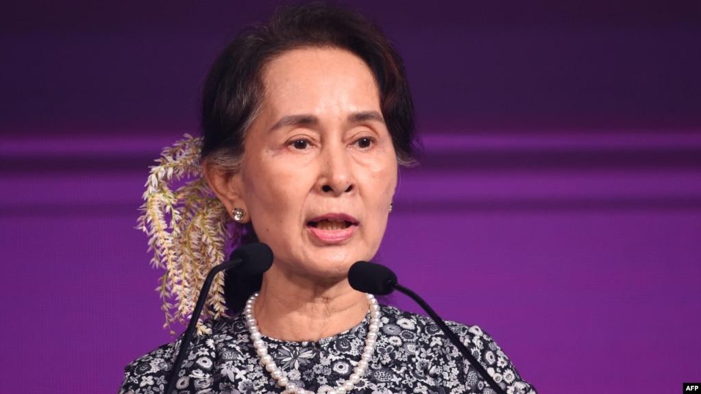 Cố vấn nhà nước Myanmar Aung San Suu Kyi tại cuộc họp thượng đỉnh của ASEAN ở Singapore ngày 12/11/2018.