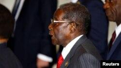 Le président zimbabwéen Robert Mugabe, 3 juillet 2017.
