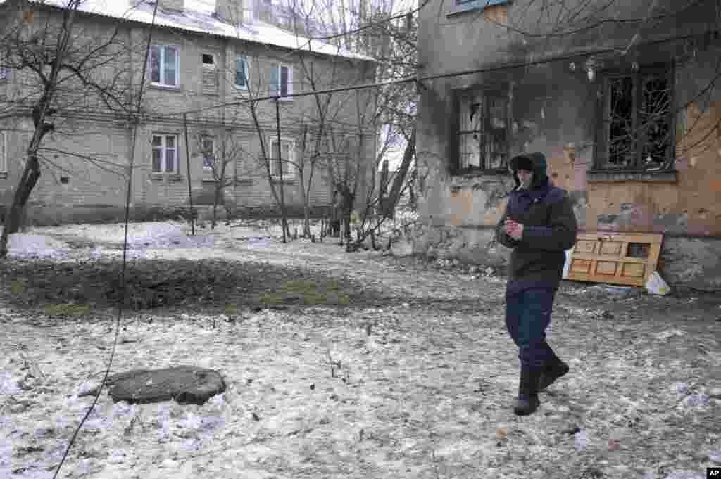 Перехожий у Донецьку