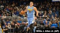 Nikola Jokic, Denver Nuggets, Orlando, Floride, le 10 décembre 2016.