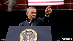 Tổng thống Barack Obama phát biểu về cải cách di trú trong chuyến thăm trường trung học Del Sol ở Las Vegas, Nevada, 21/11/2014.