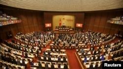 Nghị trường kỳ họp Quốc hội Việt Nam kỳ 9 tại Hà Nội trong phiên khai mạc ngày 20/5/2015.