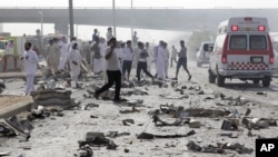 Poprište eksplozije kamiona-cisterne u glavnom gradu Saudijske Arabije, Rijadu.