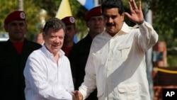 Se trata del primer encuentro de Santos y Maduro, luego de la elección presidencial en Venezuela.