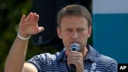 모스크바 시장 후보로 선거 운동을 하고 있는 야권 인사 알렉세이 나발리