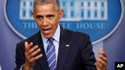 El presidente Obama señaló que trabajará con los países aliados para oponerse a cualquier esfuerzo de Rusia por desestabilizar las normas internacionales de comportamiento.