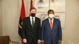 Jack Sullivan, Conselheiro de Segurança Nacional dos Estados Unidos (esq) e João Lourenço, Presidente de Angola (dir), 20 de Setembro de 2021