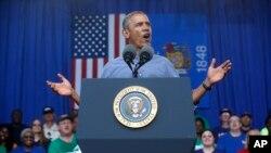Барак Обама в штате Висконсин 1 сентября 2014