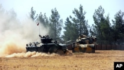 Turski tenkovi u Siriji