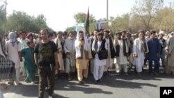 تظاهرات هواداران نامزدان معترض در سمنگان